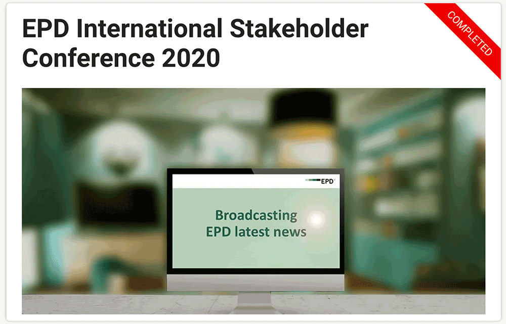 EPD International Stakeholder Conference 2020